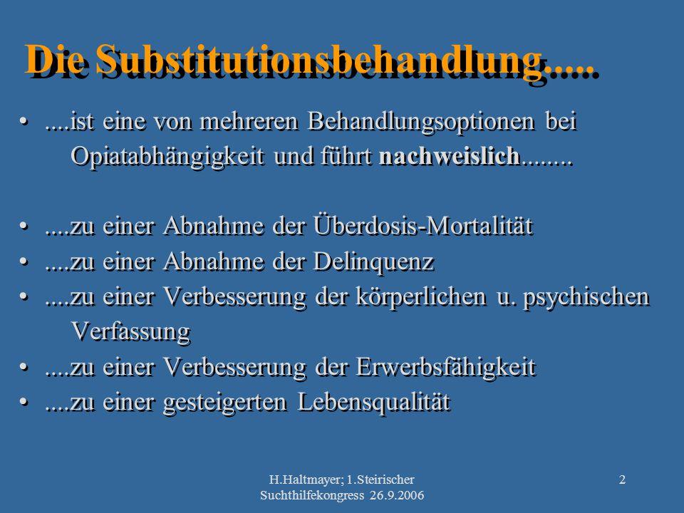 Die Substitutionsbehandlung.....