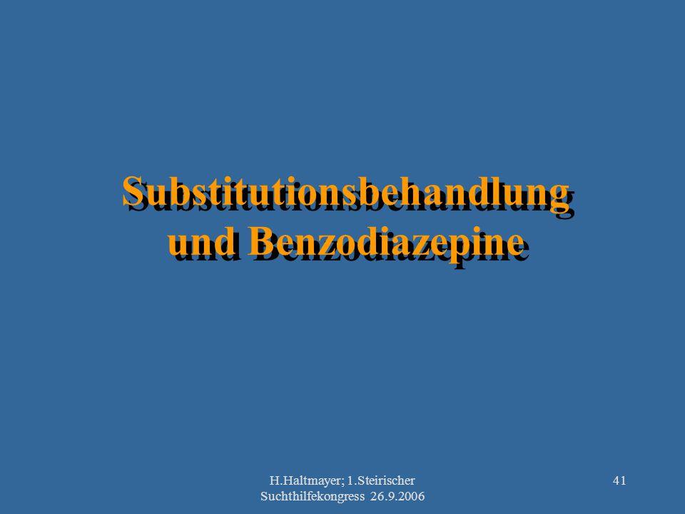 Substitutionsbehandlung und Benzodiazepine