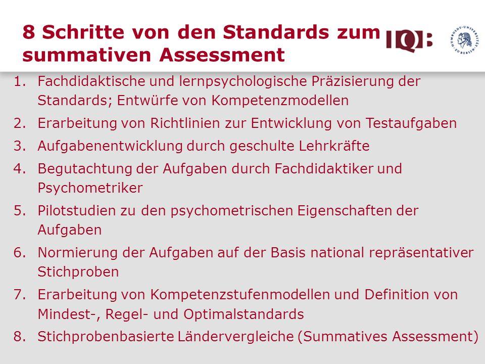 8 Schritte von den Standards zum summativen Assessment