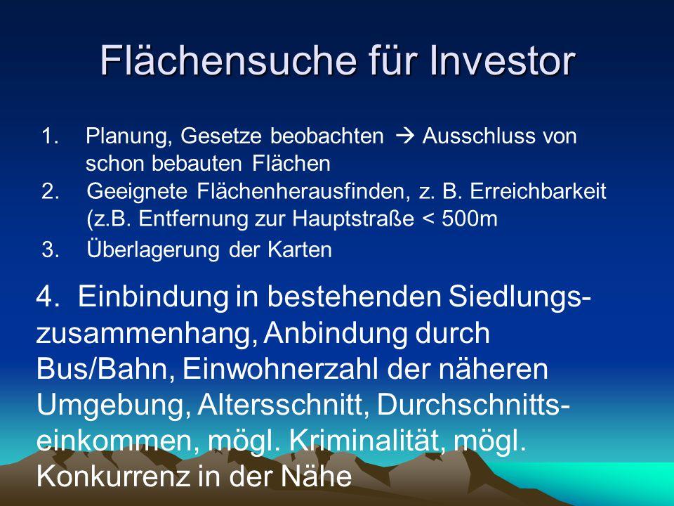 Flächensuche für Investor