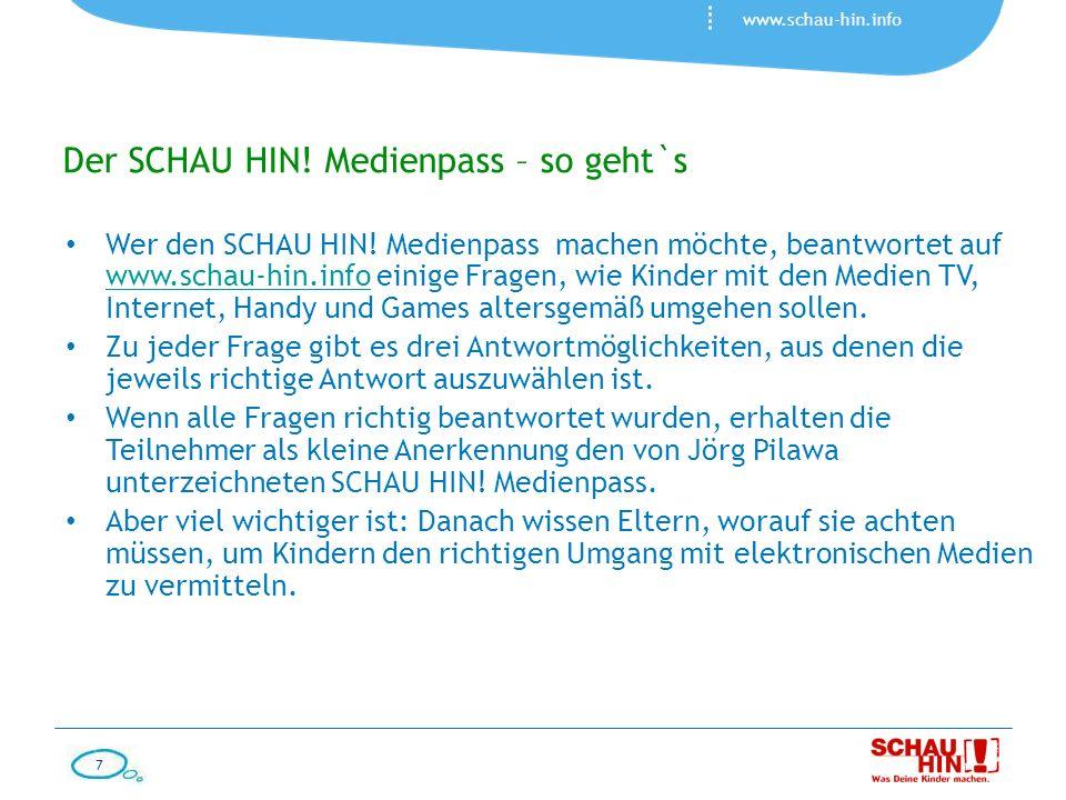 Der SCHAU HIN! Medienpass – so geht`s