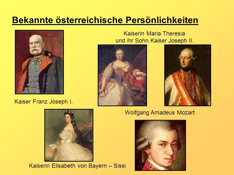 Bekannte österreichische Persönlichkeiten