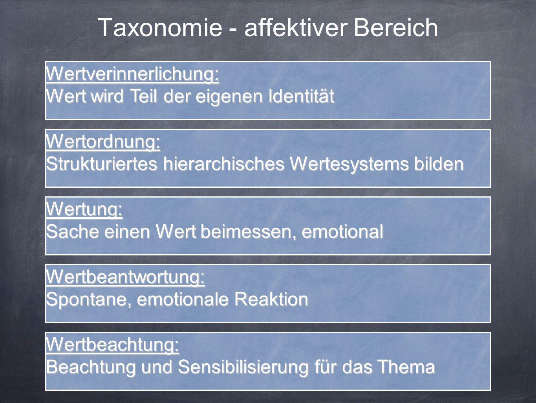 Taxonomie - affektiver Bereich
