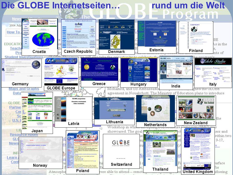 Die GLOBE Internetseiten… rund um die Welt