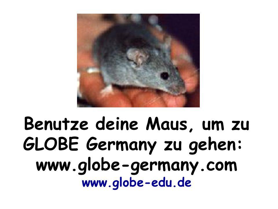 Benutze deine Maus, um zu GLOBE Germany zu gehen:
