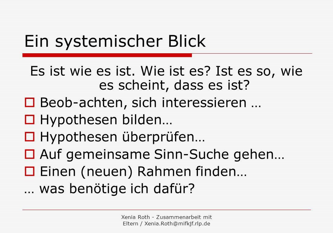 Ein systemischer Blick
