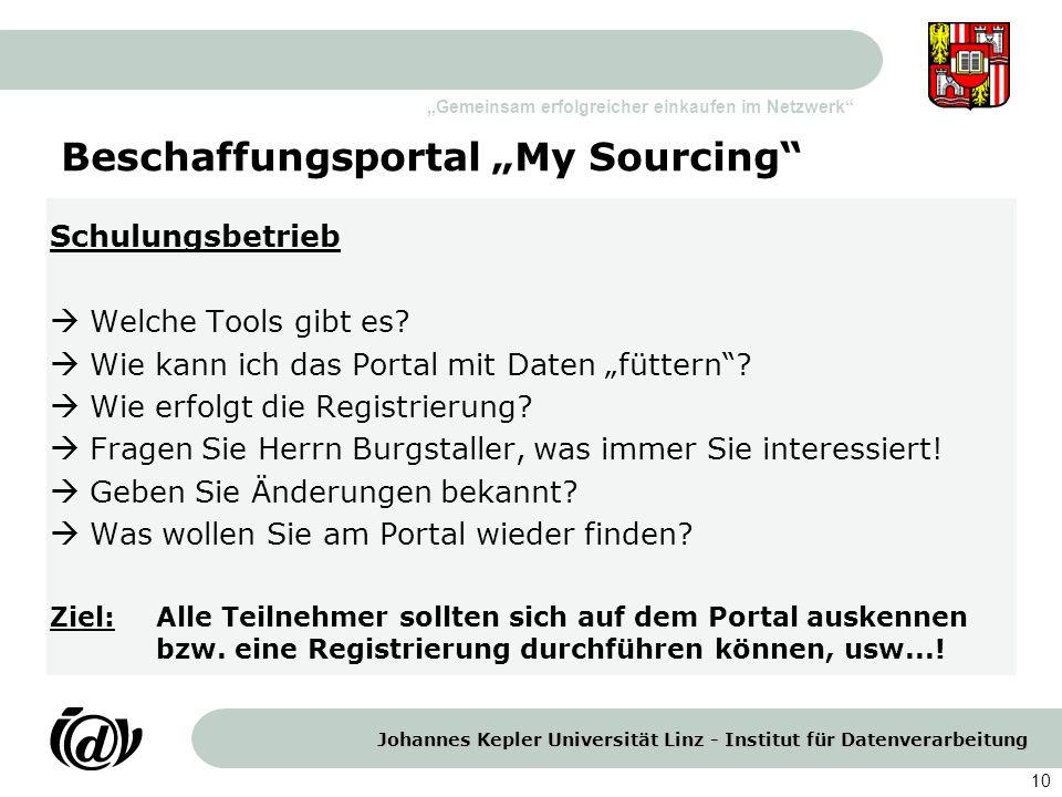 """Beschaffungsportal """"My Sourcing"""
