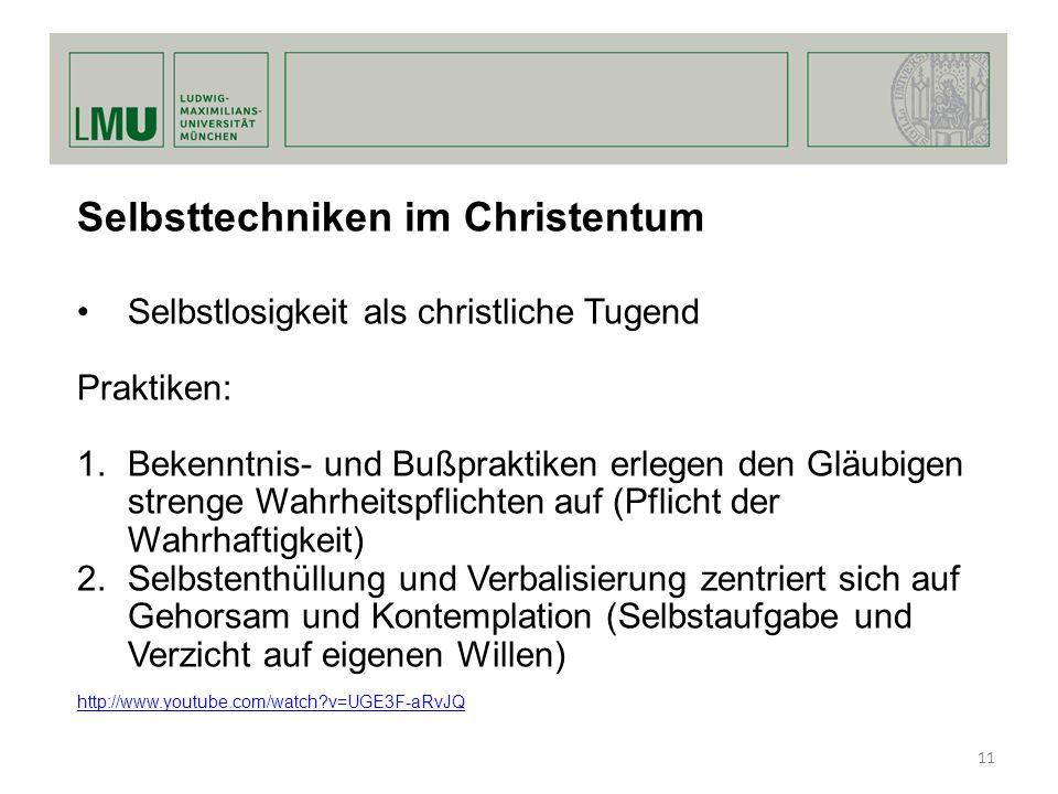 Selbsttechniken im Christentum