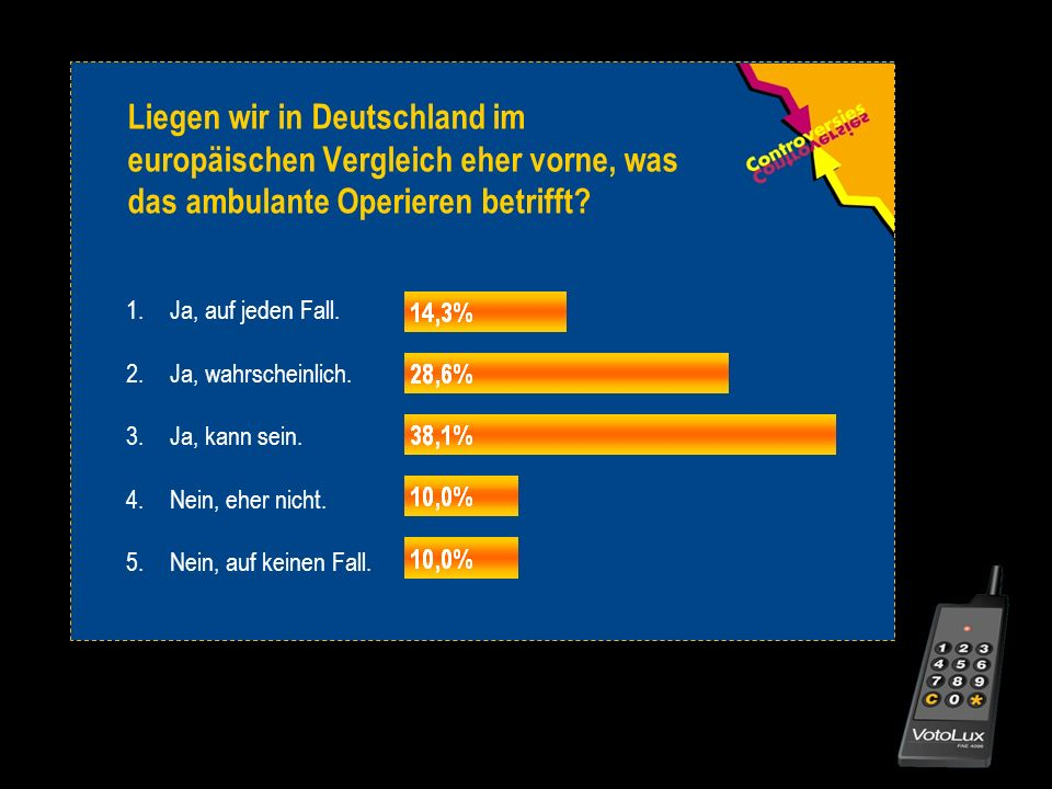Liegen wir in Deutschland im europäischen Vergleich eher vorne, was das ambulante Operieren betrifft