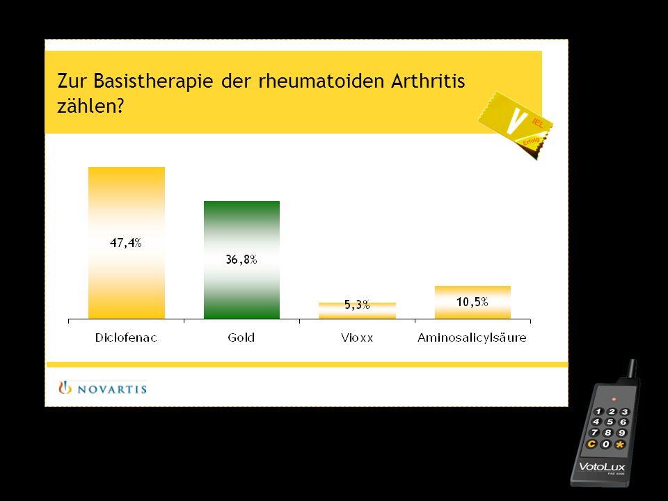 Zur Basistherapie der rheumatoiden Arthritis zählen