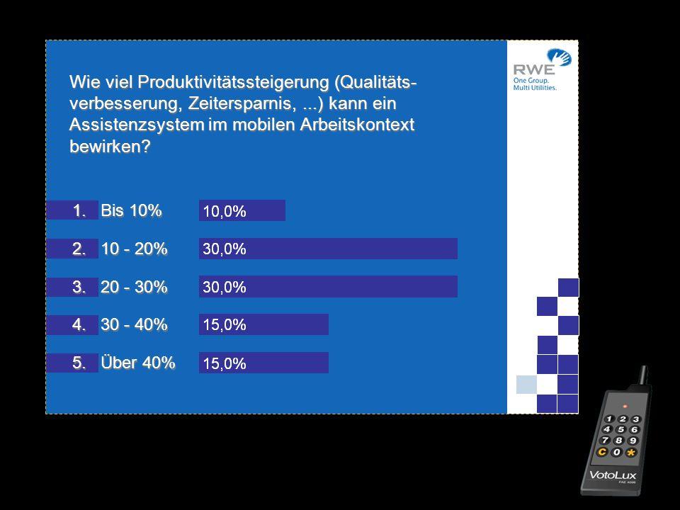 Wie viel Produktivitätssteigerung (Qualitäts-verbesserung, Zeitersparnis, ...) kann ein Assistenzsystem im mobilen Arbeitskontext bewirken