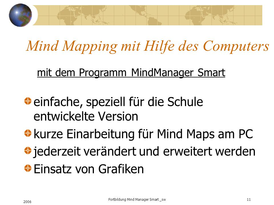 Mind Mapping mit Hilfe des Computers
