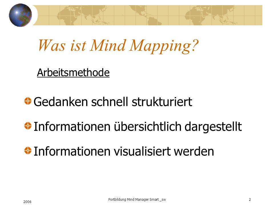 Fortbildung Mind Manager Smart _sw