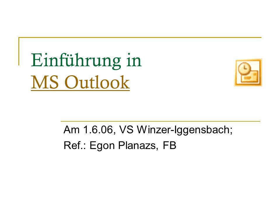 Einführung in MS Outlook