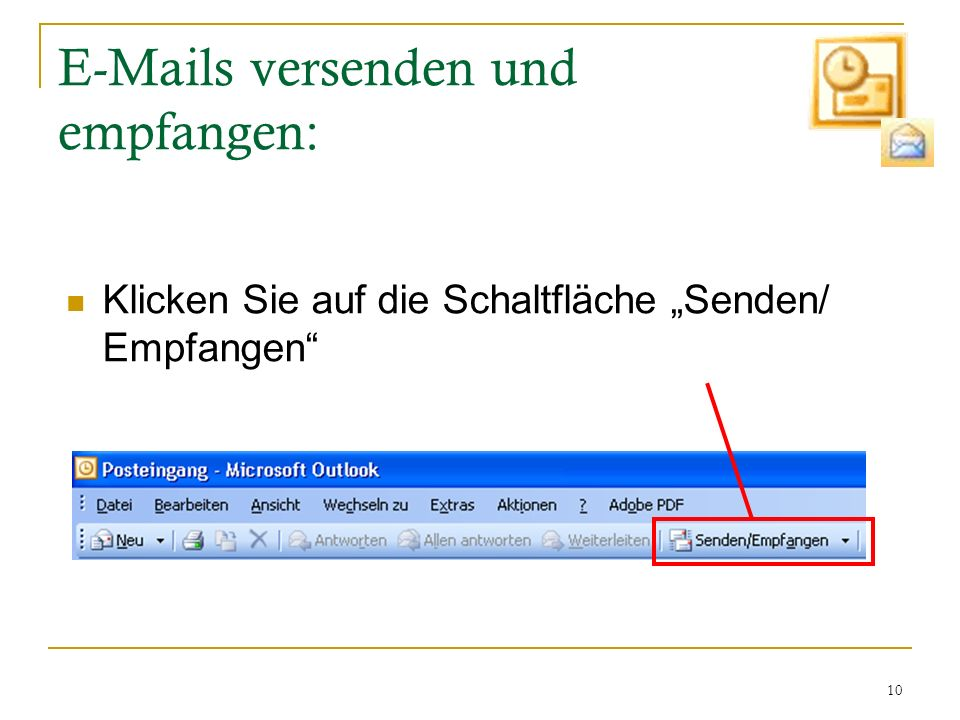 E-Mails versenden und empfangen: