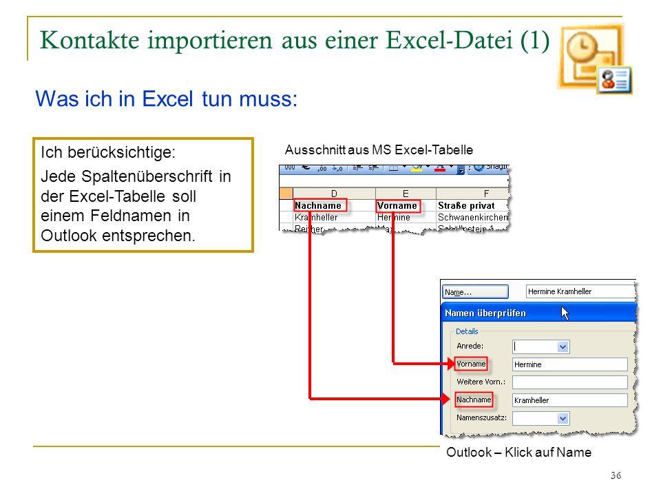 Kontakte importieren aus einer Excel-Datei (1)