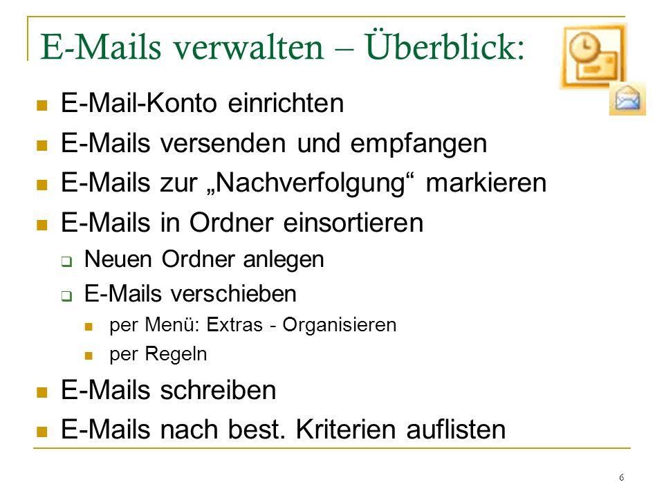 E-Mails verwalten – Überblick: