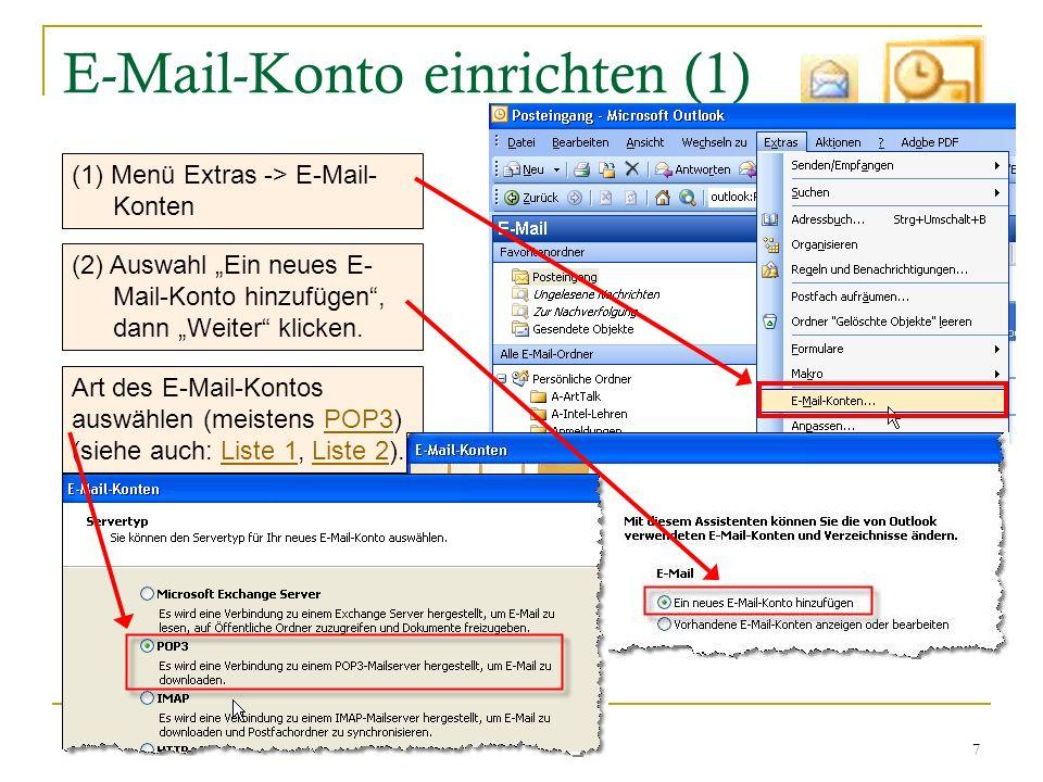 E-Mail-Konto einrichten (1)
