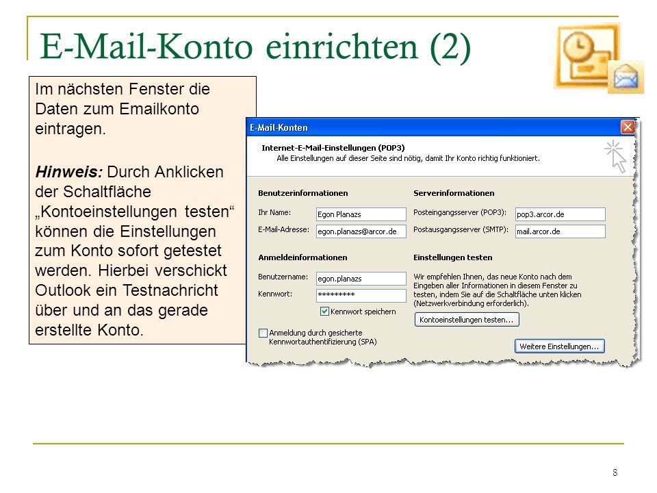 E-Mail-Konto einrichten (2)