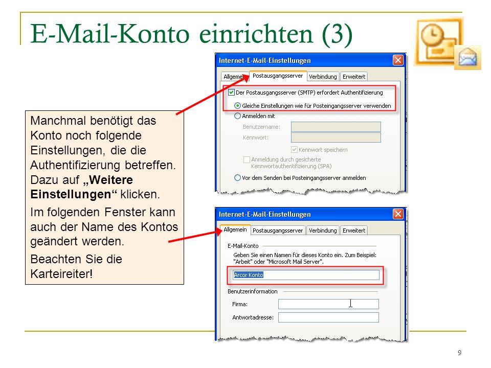 E-Mail-Konto einrichten (3)