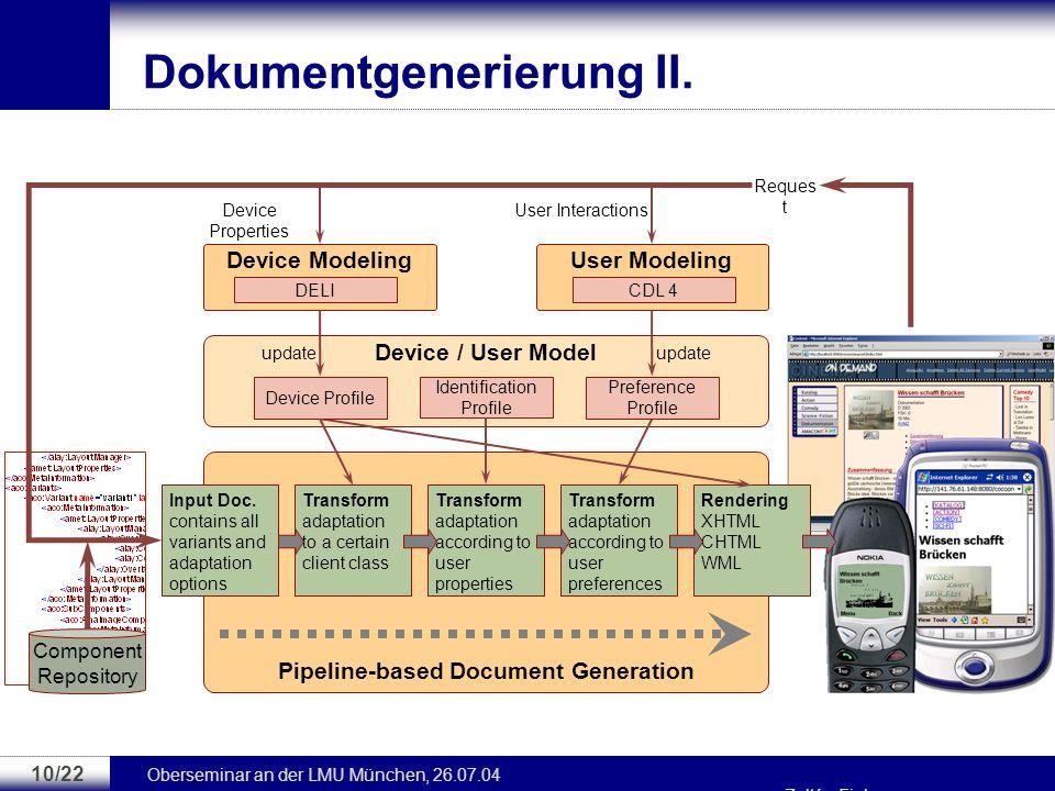 Dokumentgenerierung II.