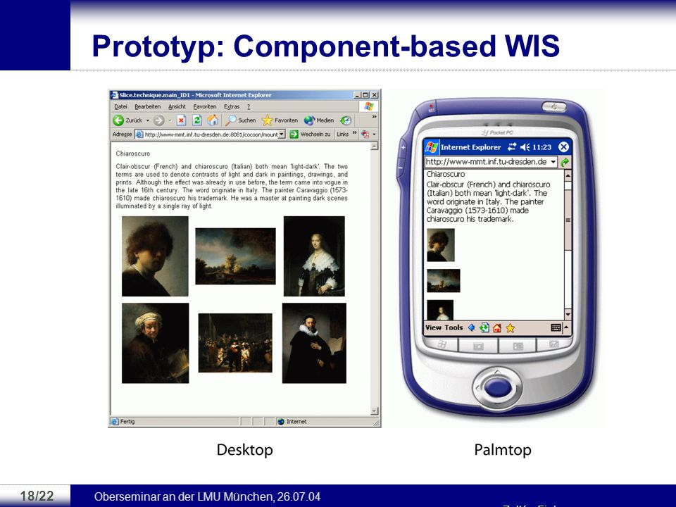 Prototyp: Component-based WIS