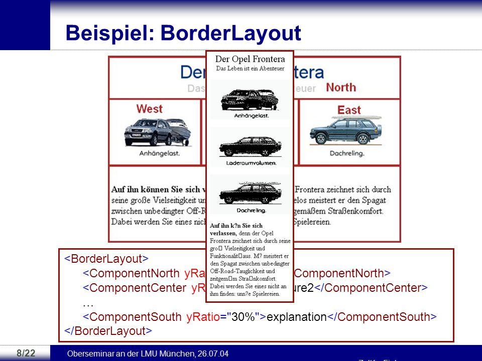 Beispiel: BorderLayout