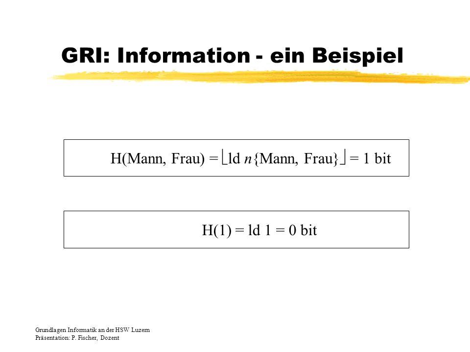 GRI: Information - ein Beispiel