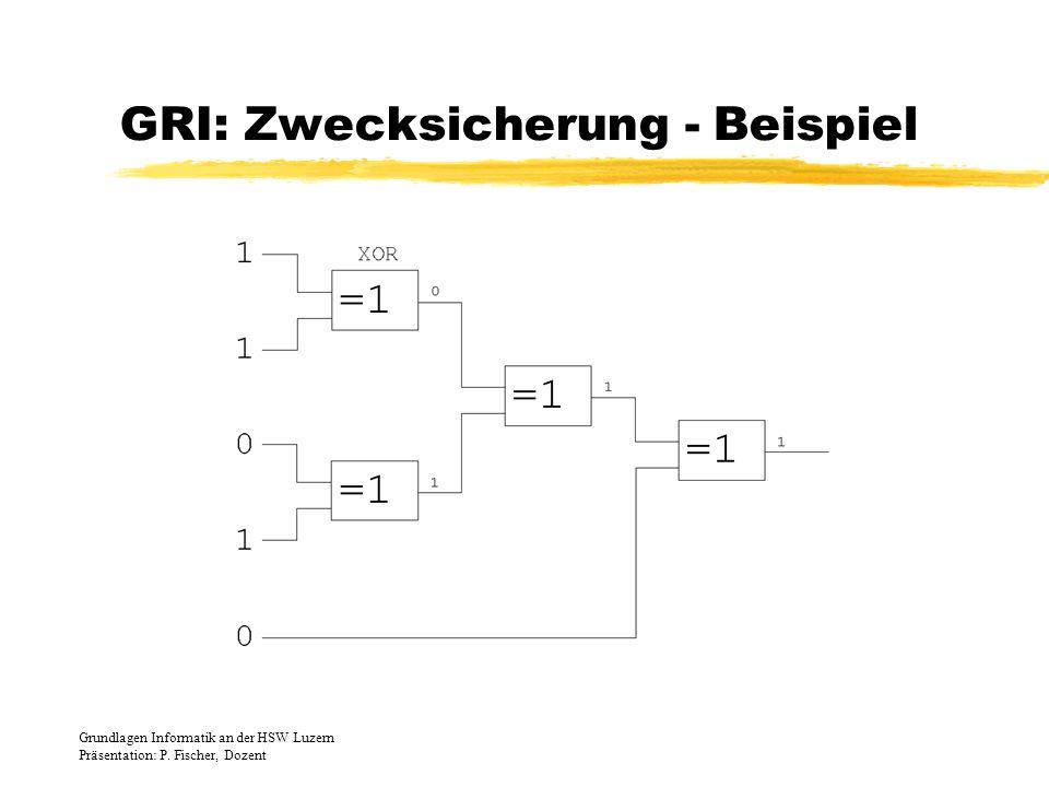 GRI: Zwecksicherung - Beispiel