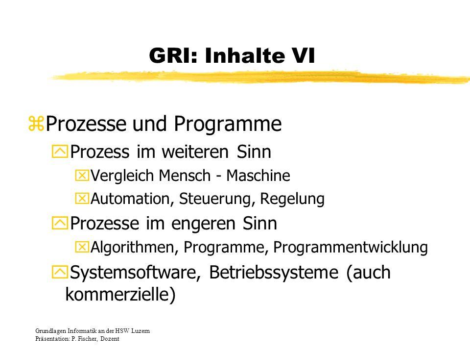 Prozesse und Programme