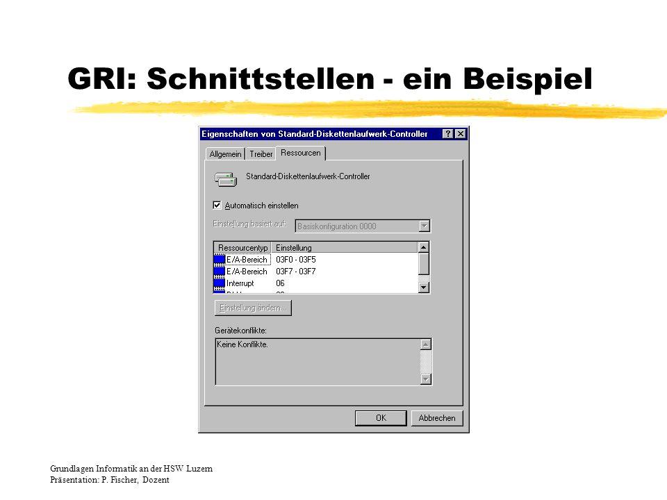 GRI: Schnittstellen - ein Beispiel