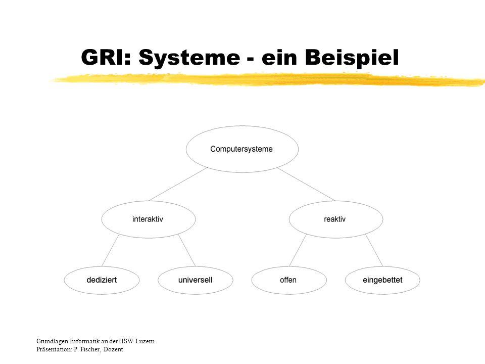 GRI: Systeme - ein Beispiel