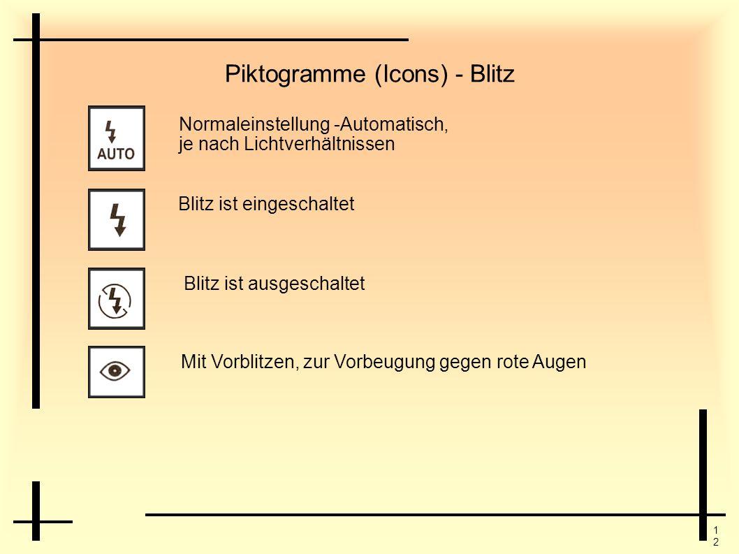 Piktogramme (Icons) - Blitz