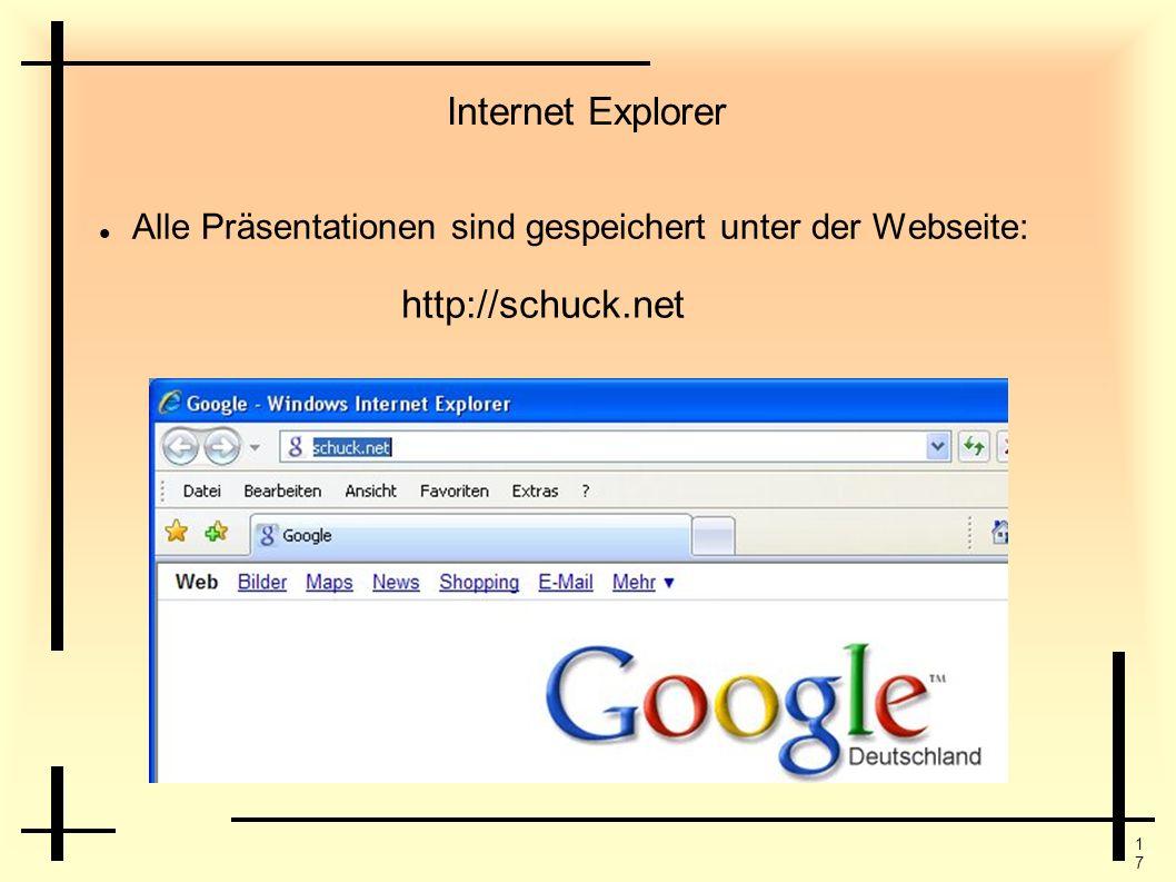 Internet Explorer http://schuck.net