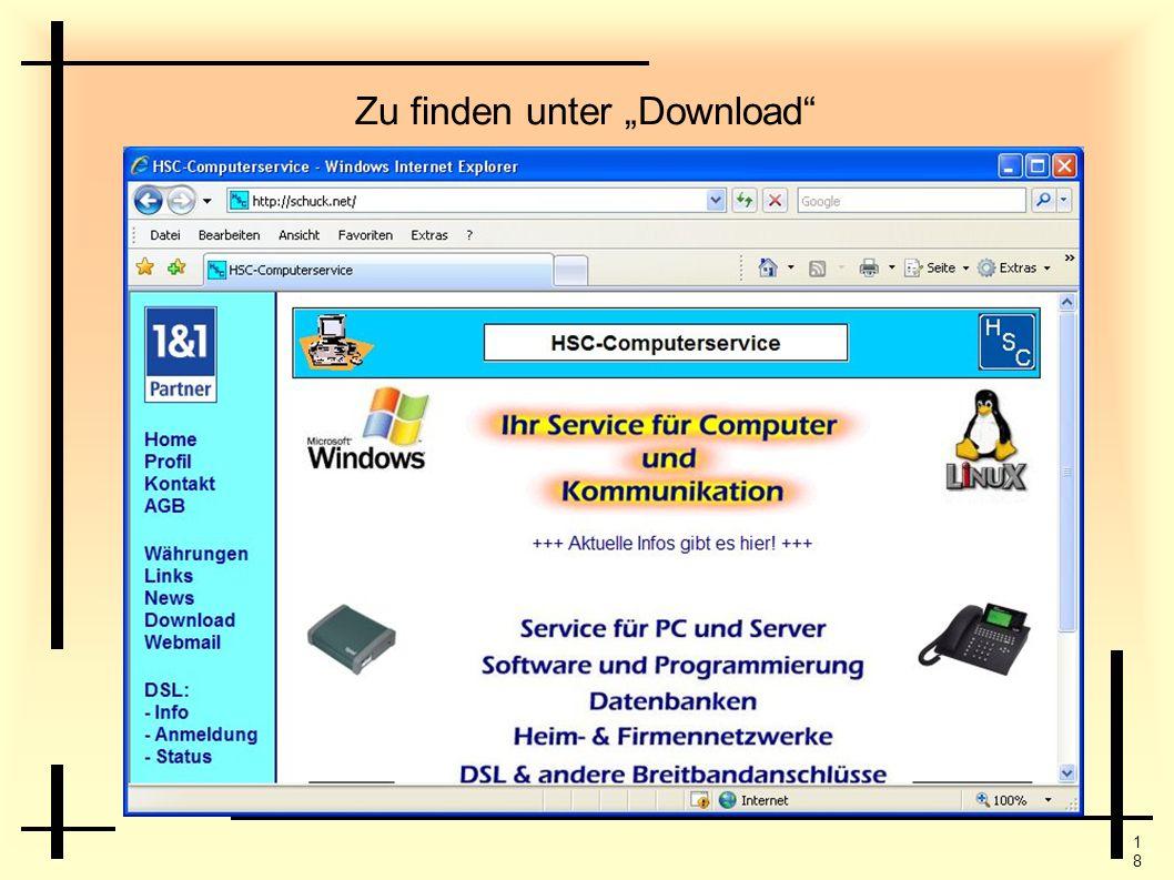 """Zu finden unter """"Download"""