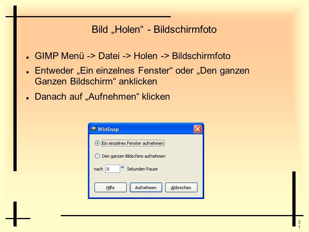 """Bild """"Holen - Bildschirmfoto"""