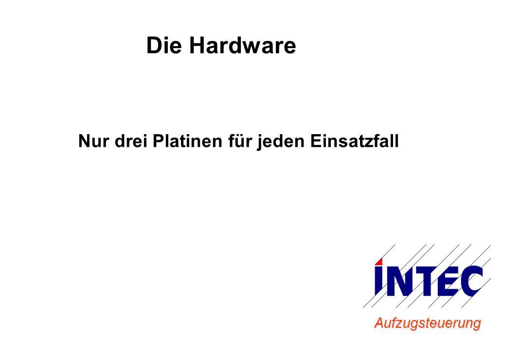 Die Hardware Nur drei Platinen für jeden Einsatzfall Aufzugsteuerung