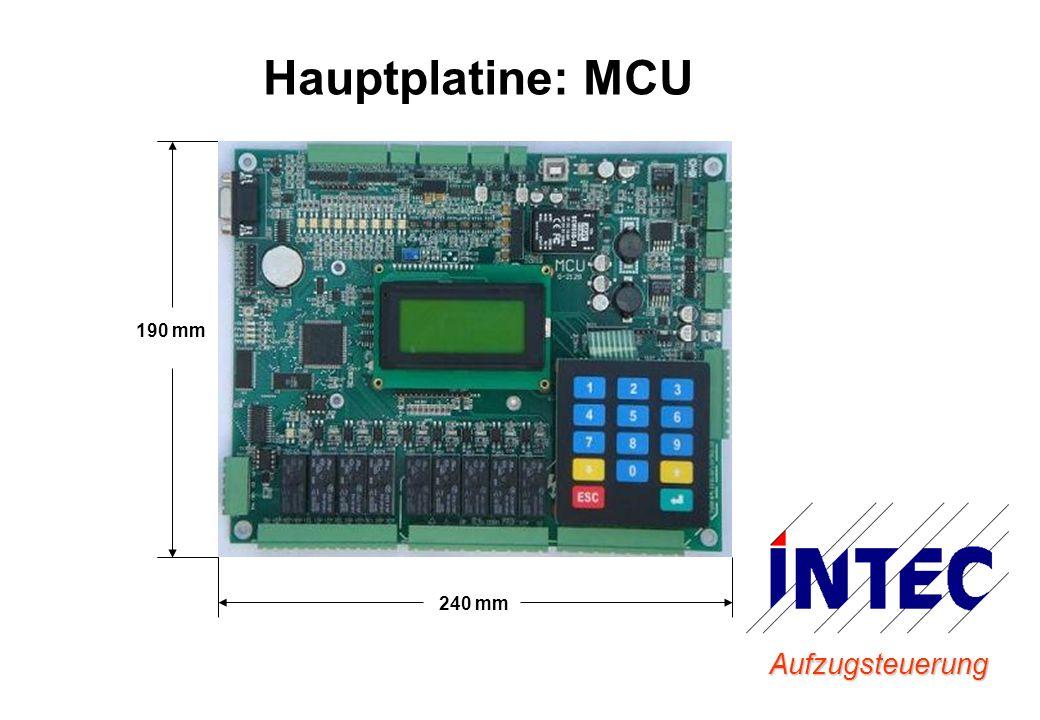 Hauptplatine: MCU 190 mm 240 mm Aufzugsteuerung