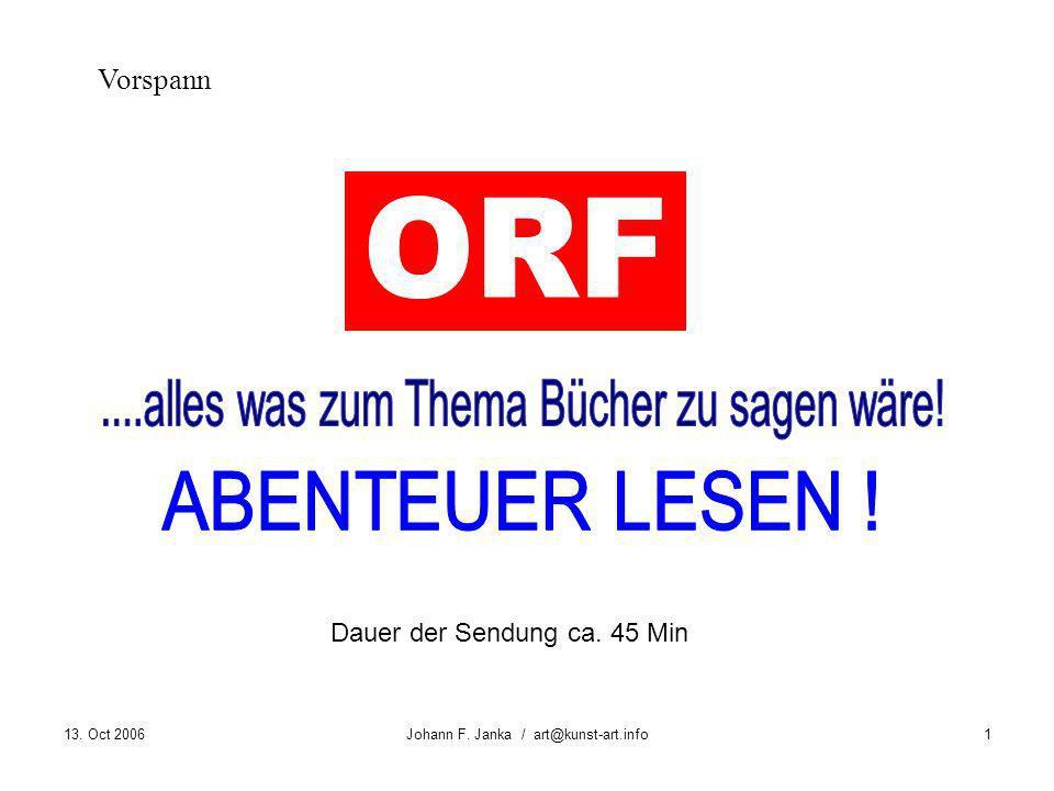 ORF ....alles was zum Thema Bücher zu sagen wäre! ABENTEUER LESEN !