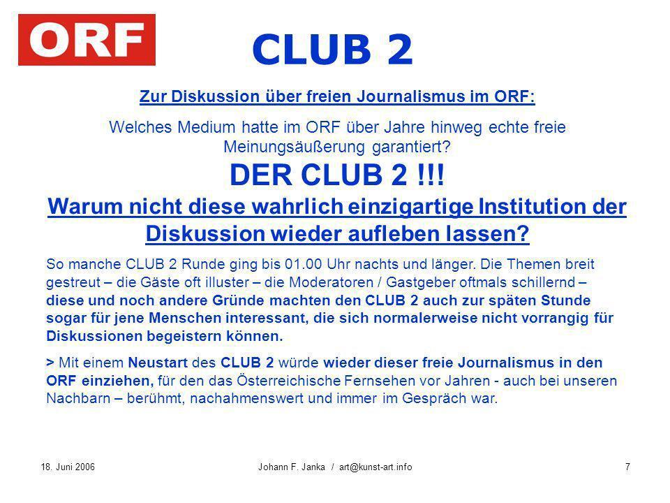 Zur Diskussion über freien Journalismus im ORF: