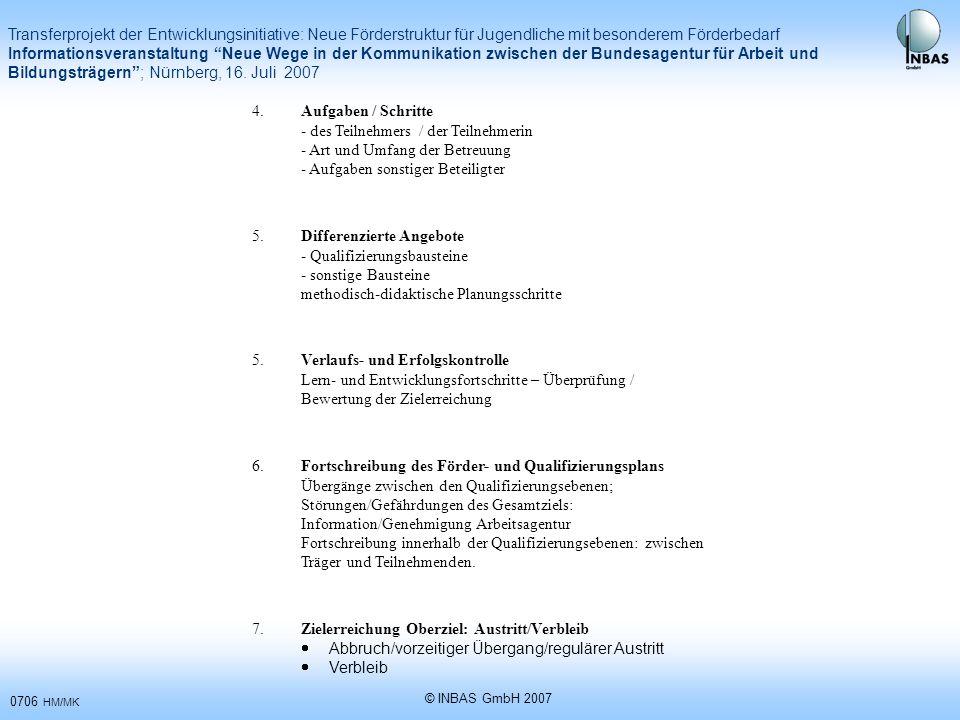- des Teilnehmers / der Teilnehmerin - Art und Umfang der Betreuung