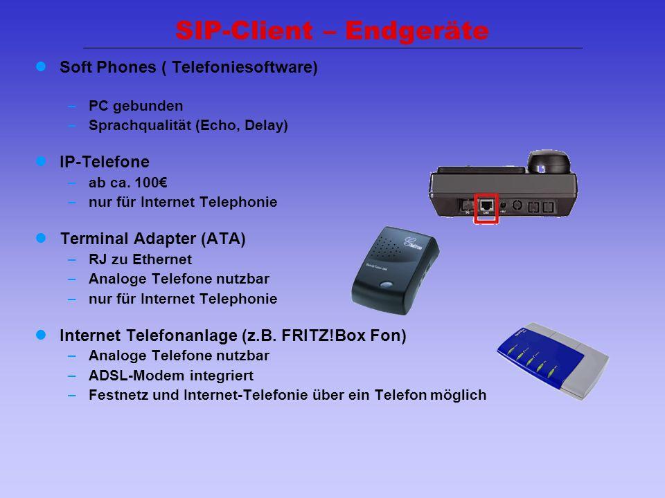 SIP-Client – Endgeräte