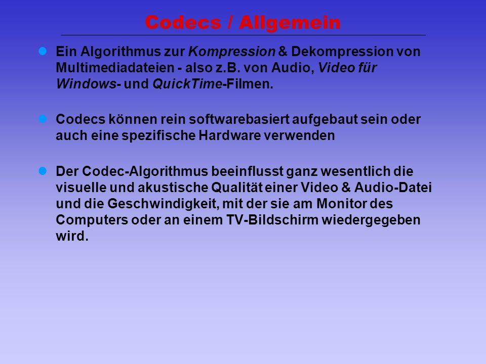 Codecs / Allgemein