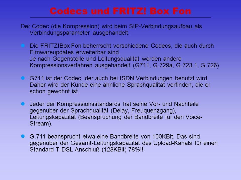Codecs und FRITZ! Box Fon