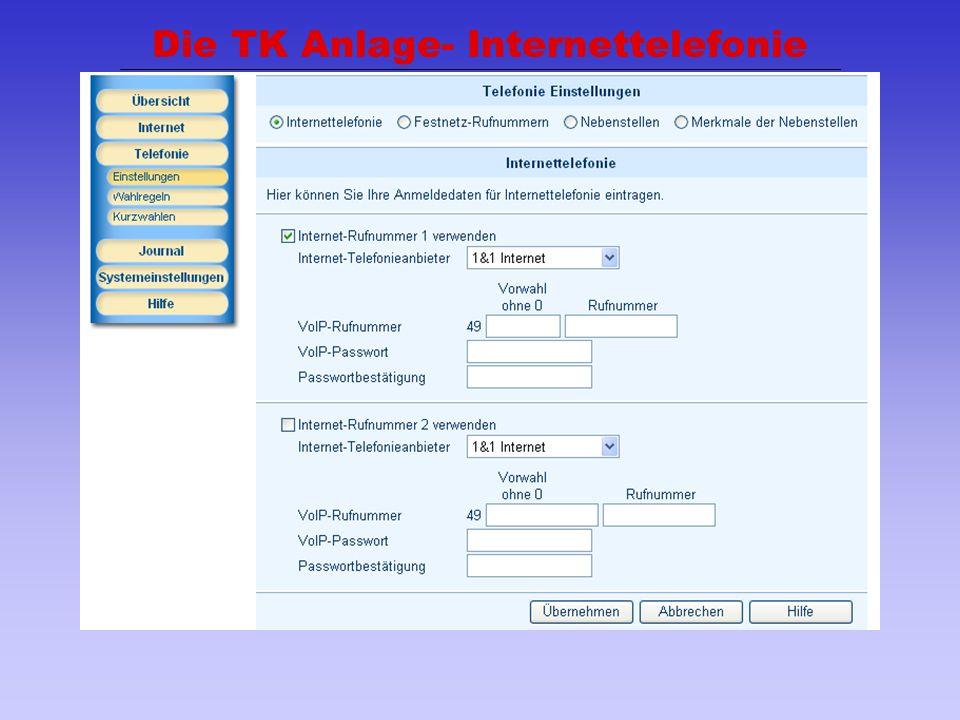 Die TK Anlage- Internettelefonie