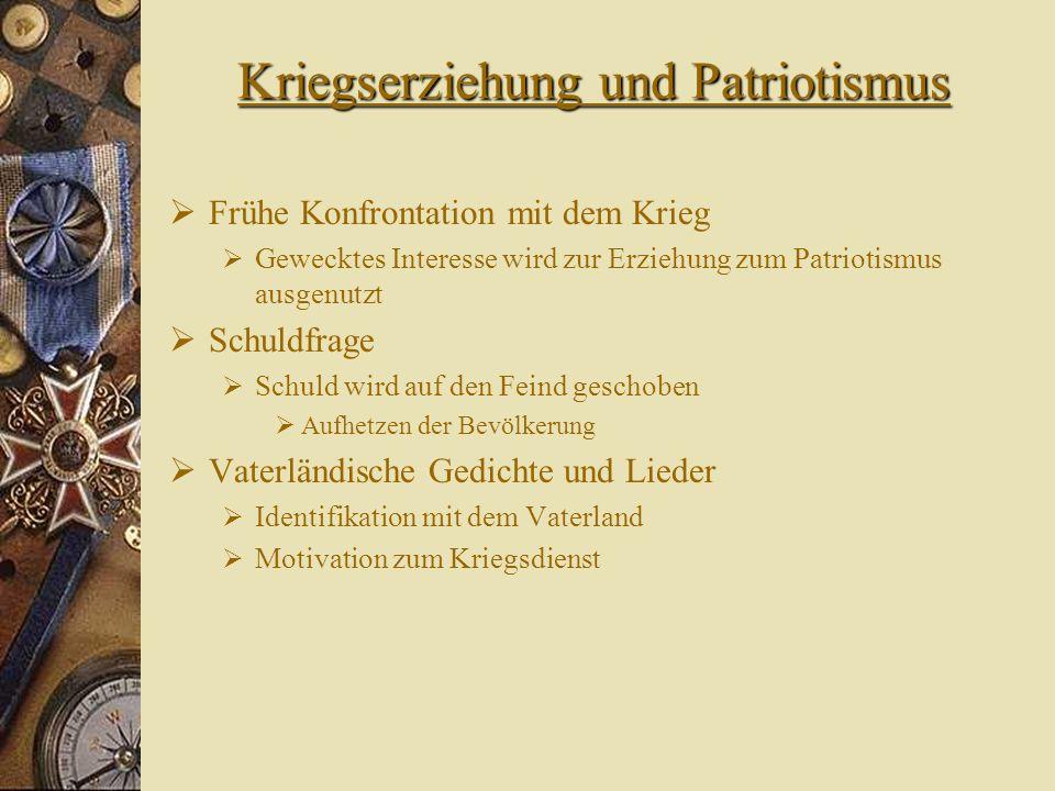 Kriegserziehung und Patriotismus