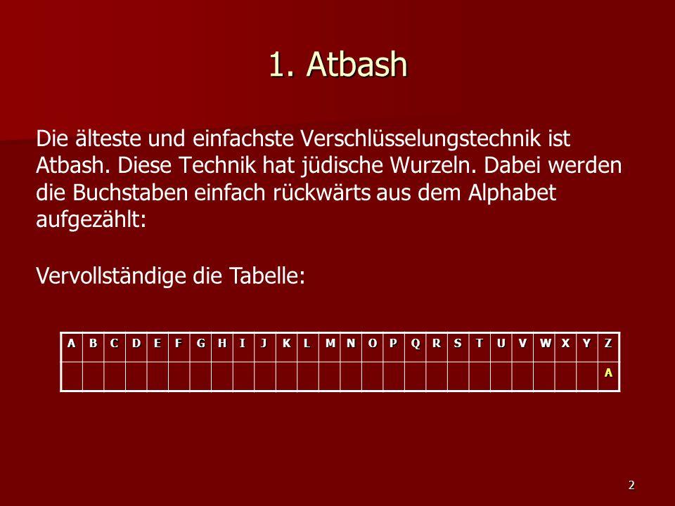 1. Atbash