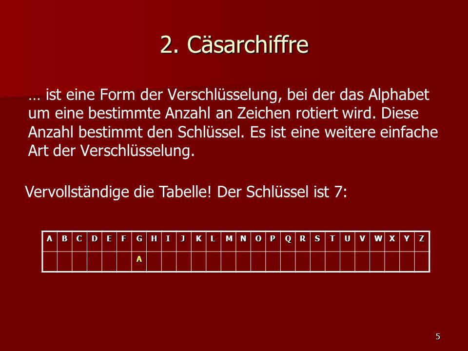 2. Cäsarchiffre