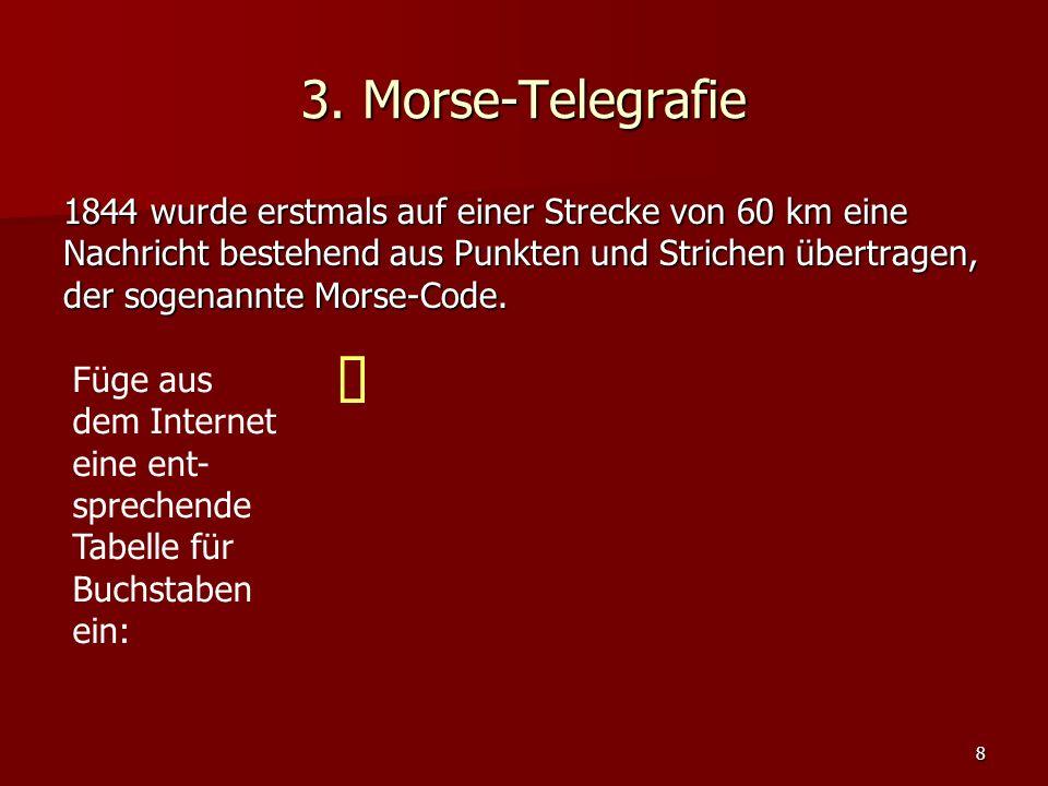 3. Morse-Telegrafie