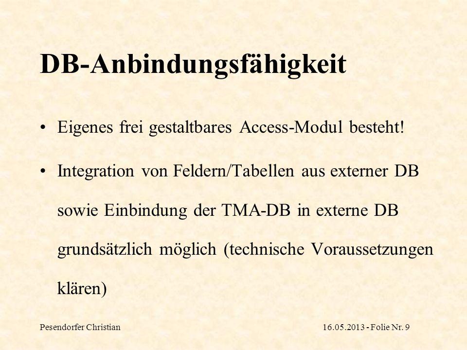 DB-Anbindungsfähigkeit